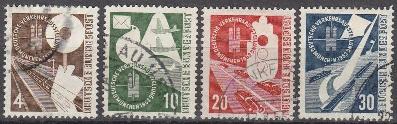 Germany #698-701 F-VF Used  CV $34.50 (A15832)