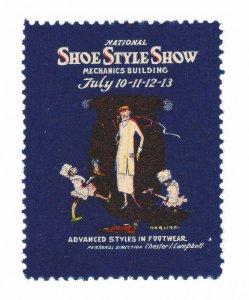 REKLAMEMARKE GREAT BRITAIN POSTER STAMP EXPO NATIONAL SHOE STYLE SHOW 1913