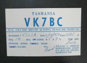 6113 Amateur Radio QSL Card Legana Tasmania