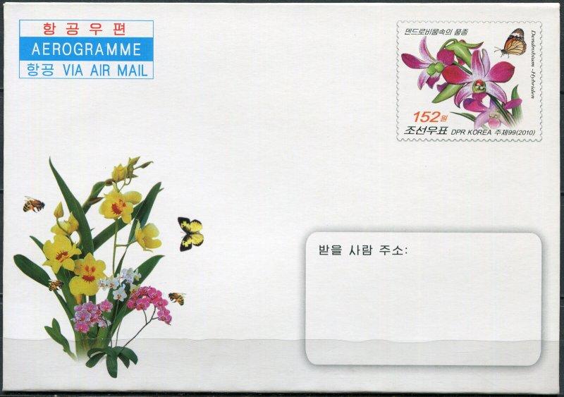 Korea 2010. Orchids (Mint) Aerogram