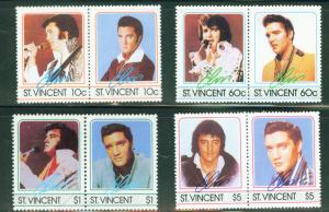 St Vincent Scott 874-7 1985 Elvis Presley set MNH**