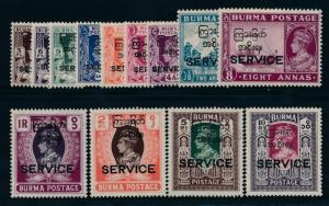 BURMA O43-055 MINT LH KGVI OFFICIALS