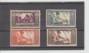 Laos  Scott#  C1-C4  MNH  (1952)