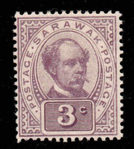 Sarawak 1899  3c Postage Postage SG 38 mint