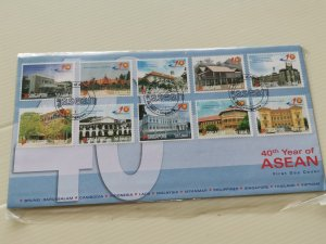 SINGAPORE 2007 FDC - 40 YEARS OF ASEAN.