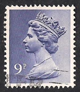 Great Britain #762 9P Elizabeth 2 used EGRADED SUPERB 99 XXF