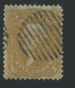 1861 US Stamp #67a 5c Used Reperfprated Perf 12 Catalogue Value $1100 Certified