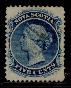 CANADA - Nova Scotia QV SG25, 5c deep blue, USED. Cat £29.