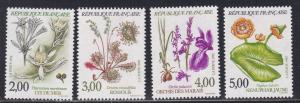 France # 2298-2301, Flowers, NH, 1/2 Cat.