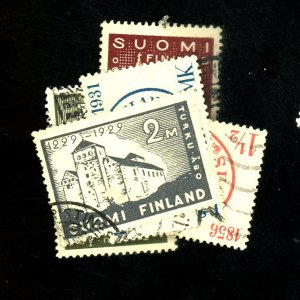 FINLAND #155-7 182-3 USED F-VF  Cat $35