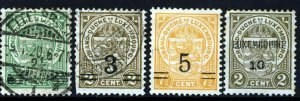 LUXEMBOURG 1916-21 Surcharged Issues SG 187 onwards VFU