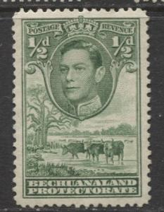 Bechuanaland - Scott 124 - KGVI - Definitive -1938 - MNG - Single 1/2p Stamp
