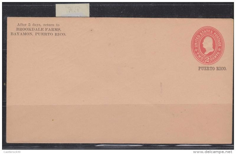 O) 1900 PUERTO RICO, US OCCUPATION IN PUERTO RICO, POSTAL ST