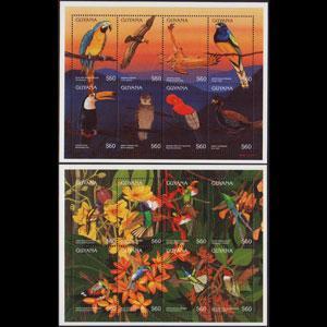 GUYANA 1996 - Scott# 3071-1I S/S Birds NH