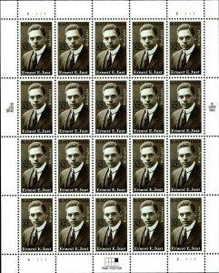 Ernest Everett Just Black Heritage Sheet of Twenty 32 Cent Stamps Scott 3058