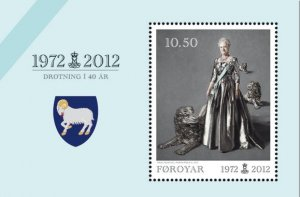 Faroe Islands 2012 #572a MNH. Queen, joint with Denmark/Greenland