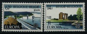 Belgium 985-6 MNH Gileppe Dam, War Memorial, EUROPA