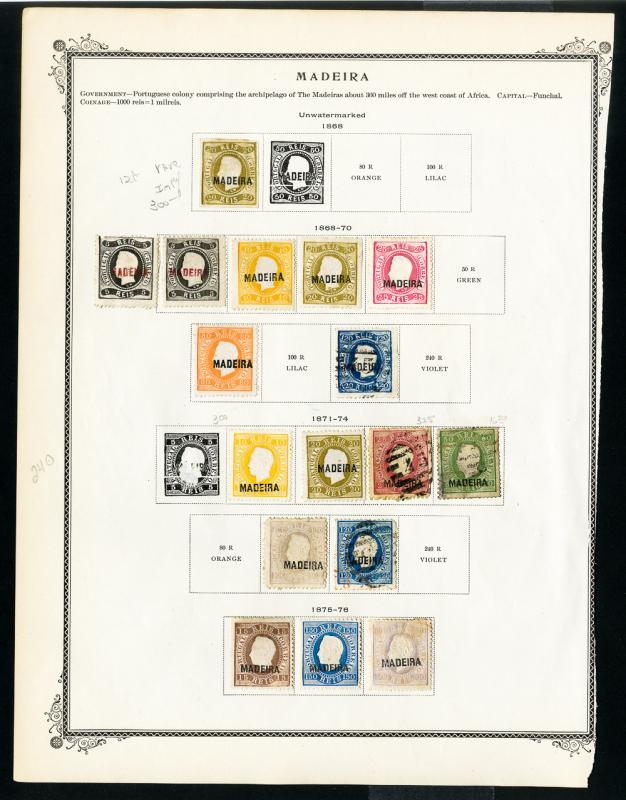 Madeira Stamps 1800s Collection