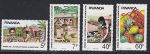 Rwanda MNH 1278-81 Self Sufficiency In Food Production