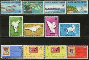 SOLOMON IS. Sc#268-279 1974 Three Complete Sets OG Mint LH