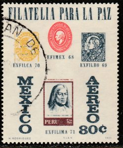 MEXICO C391 Exfilima71 Philat Exhib, Lima Peru. Used VF. (25)