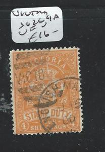 VICTORIA (P1508B) STAMP DUTY 4/- SG269A  VFU