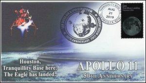 19-195, 2019, Moon Landing, Pictorial Postmark, Event Cover, Apollo 11, San Dieg