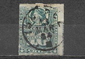 Chile Stamp Used 10 Centavos Christopher Columbus