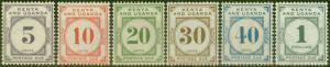 KUT 1928-33 P.Due set of 6 SGD1-D6 V.F Lightly Mtd Mint