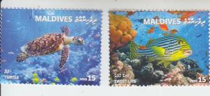 2018 Maldives Fish & Turtle (2) (Scott NA) MNH