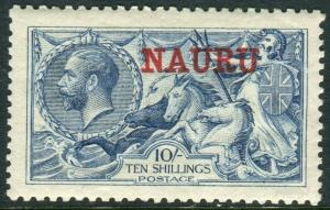 NAURU-1916-23 10/- Pale Blue.  A lightly mounted mint example Sg 23