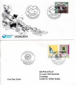 FAROES. 1979. Ram and Europe I on FDC cover
