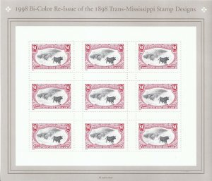 Stamp US Sc 3210 Sheet 1998 Trans-Mississippi Centenary 1898 Re-issued MNH