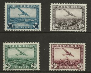 Belgium  (1930)  - Scott # C1 - C4,     MH