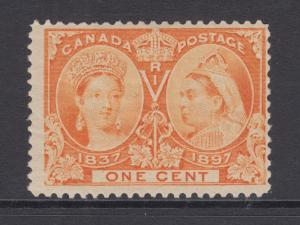 Canada Sc 51 MLH. 1897 1c orange Queen Victoria Jubilee