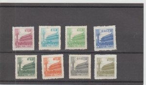 People's Republic of China  Scott#  206-213  MH  (1954 Gate of Heavenly Peace)