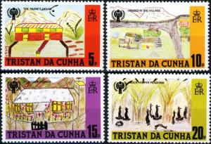 Tristan da Cunha MNH 264-7  Year Of The Child 1975