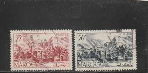French Morocco  Scott#  259-260  Used  (1950 Todra Valley)