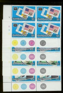 BARBADOS Sc#682-685 Complete Mint Never Hinged PLATE BLOCK Set