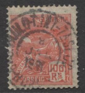 Brazil - Scott 223 - Aviation Issue -1920 - Used - Single 100r Stamp