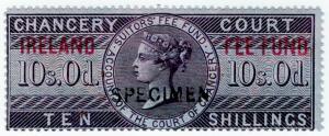 (I.B) QV Revenue : Ireland Chancery Fee Fund 10/- (specimen)