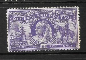 QUEENSLAND 1900   2d  CHARITY   QV   MLH     SG 264b