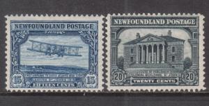 Newfoundland #170 - #171 Very Fine Mint Original Gum Hinged Duo