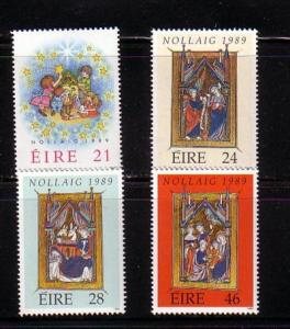 Ireland Sc 759-62 1989 Christmas stamps  mint
