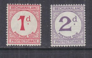BECHUANALAND, POSTAGE DUE, 1958 Chalky paper, 1d. & 2d., pair, lhm.