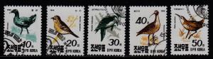 Korea - DPR (North) - #2957 - 2961 Birds  - CTO
