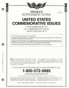 Minkus United States Commemoratives MUSC12 Supplement 2012