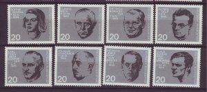 J24204 JLstamps 1964 germany set mnh #883-90 famous people