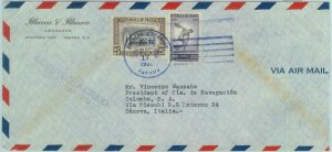 84302 - PANAMA - Airmail COVER to ITALY 1952 - FIREFIGHTING art SPORT