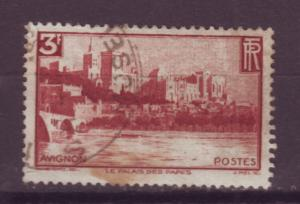 J16260 JLstamps 1938 france part of set used #344 palace of the popes